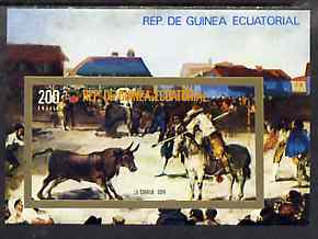 Equatorial Guinea 1975 Bull-Fighting imperf m/sheet unmounted mint, Mi BL 171