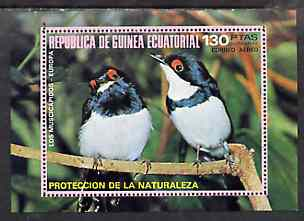 Equatorial Guinea 1976 European Birds perf m/sheet unmounted mint Mi BL 236