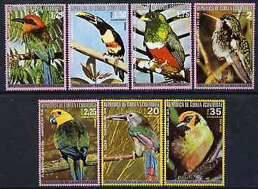 Equatorial Guinea 1974 South American Birds perf set of 7 unmounted mint (between Mi 483-96A)*