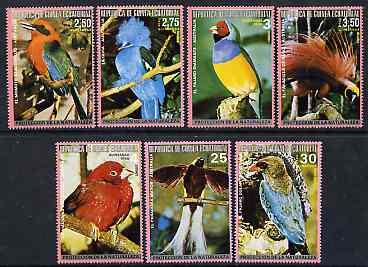 Equatorial Guinea 1974 Australian Birds perf set of 7 unmounted mint (between Mi 483-96A)*
