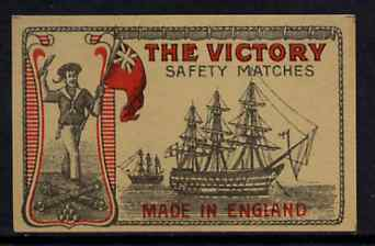 Match Box Labels - The Victory match box label in superb unused condition (Issued about 1915 when the Vulcan Match Co became J Masters & Co Ltd)
