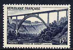 France 1952 Garabit Railway Viaduct unmounted mint, SG 1149*