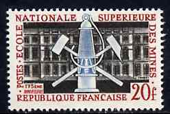 France 1959 175th Anniversary of School of Mines unmounted mint, SG 1417*