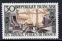 France 1957 French Public Works unmounted mint SG 1343*