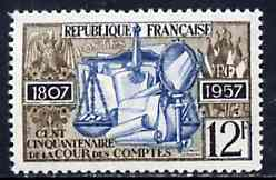 France 1957 150th Anniversary of the Court of Accountancy unmounted mint SG 1336