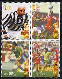 Gagauzia Republic 1998 Football complete perf set of 4 unmounted mint