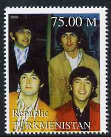 Turkmenistan 1999 The Beatles from Events & People of the 20th Century unmounted mint