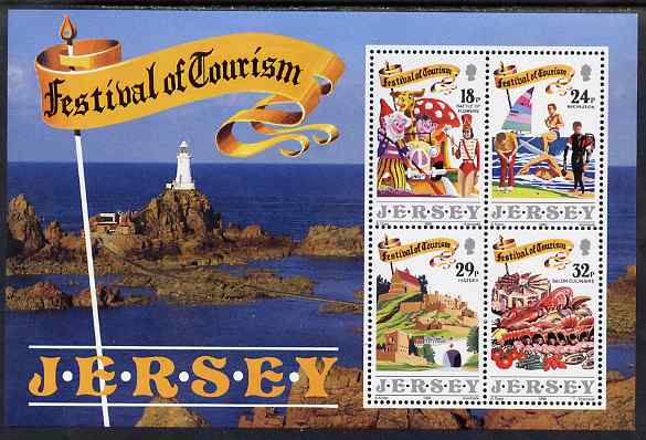 Jersey 1990 Festival of Tourism m/sheet unmounted mint, SG 526