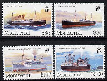 Montserrat 1984 Mail Packet Boats (2nd series) set of 4 unmounted mint, SG 615-18