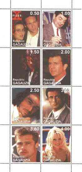 Gagauzia Republic 1998 Film Stars perf sheetlet containing complete set of 8 unmounted mint