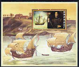 Senegal 1999 Columbus m/sheet #3 containing 180f value (Columbus & his Ships) unmounted mint