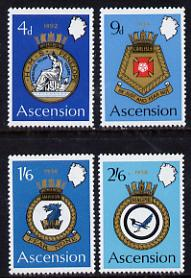 Ascension 1970 Royal Naval Crests - 2nd series perf set of 4 unmounted mint, SG 130-3