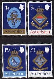 Ascension 1969 Royal Naval Crests - 1st series perf set of 4 unmounted mint, SG 121-4