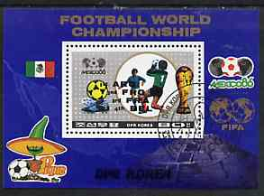 North Korea 1986 Mexico World Football Championships m/sheet opt'd with Winners, very fine cto used, SG MS N2628