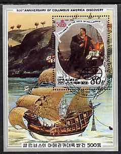 North Korea 1988 500th Anniversary of Discovery of America by Columbus m/sheet cto used, SG MS N2757