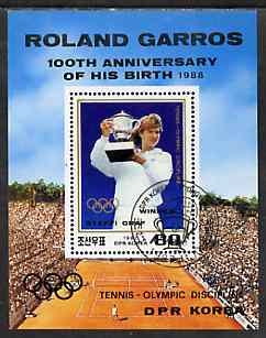 North Korea 1987 Tennis as an Olympic Sport (Steffi Graf) m/sheet cto used, SG MS N2742