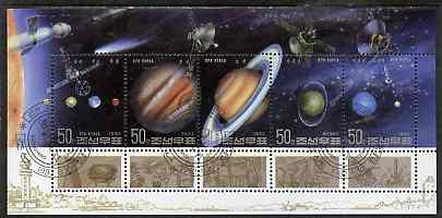 North Korea 1992 The Solar System sheetlet containing set of 5 very fine cto used, SG N31691