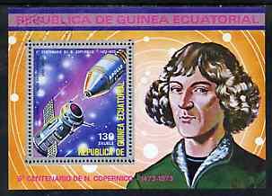 Equatorial Guinea 1974 500th Anniversary of Copernicus perf m/sheet very fine cto used, Mi BL 93