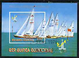 Equatorial Guinea 1978 Moscow Olympics imperf m/sheet (Sailing) very fine cto used, Mi BL 288