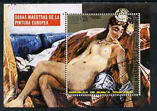 Equatorial Guinea 1973 Paintings of Nudes perf m/sheet (Delacroix) very fine cto used, Mi BL 74