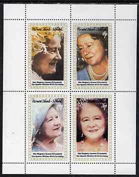 Bernera 1980 Queen Mother's 80th Birthday perf set of 4 values unmounted mint