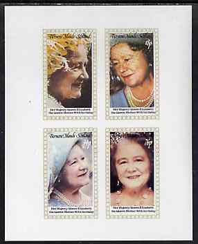 Bernera 1980 Queen Mother's 80th Birthday imperf set of 4 values unmounted mint