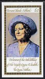 Bernera 1980 Queen Mother's 80th Birthday �2 imperf deluxe sheet unmounted mint