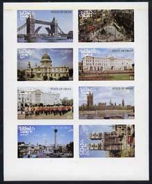 Oman 1977 Silver Jubilee imperf set of 8 values (London Scenes) unmounted mint