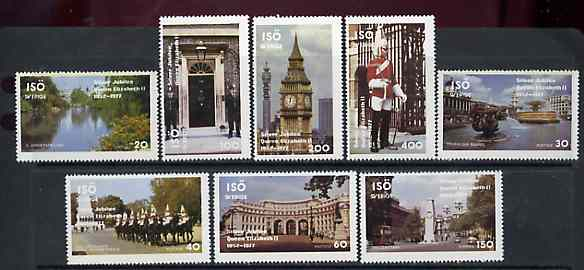 Iso - Sweden 1977 Silver Jubilee perf set of 8 values (London Scenes) unmounted mint