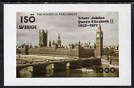 Iso - Sweden 1977 Silver Jubilee imperf souvenir Sheet (Houses of Parliament) unmounted mint