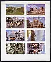 Eynhallow 1977 Silver Jubilee imperf set of 8 values (Scenes around Windsor Castle) unmounted mint