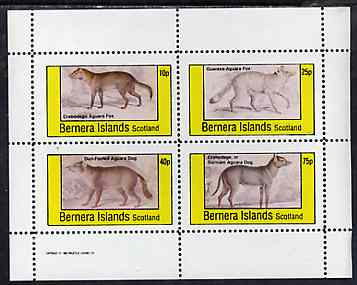 Bernera 1982 Aguara Fox Dog perf  set of 4 values unmounted mint