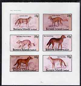 Bernera 1982 Wild Dogs imperf set of 6 values unmounted mint