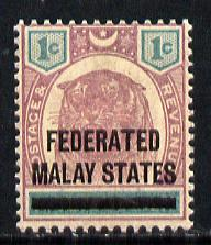 Malaya - Federated Malay States 1901 FMS opt on Negri Tiger 1c unmounted mint,SG 1*
