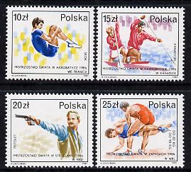Poland 1987 World Successes set of 4 (SG 3131-34) unmounted mint