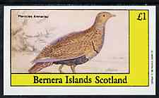 Bernera 1982 Game Birds #3 imperf  souvenir sheet (�1 value) unmounted mint