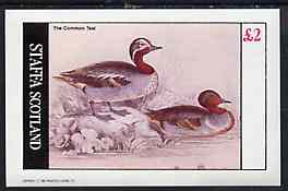 Staffa 1982 Common Teal imperf  deluxe sheet (�2 value) unmounted mint