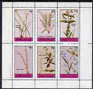 Staffa 1982 Flowers #18 (Amaryllis, Spleenwort,Meadow Beauty, etc) perf set of 6 values (15p to 75p) unmounted mint