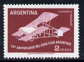 Argentine Republic 1958 50th Anniversary of Aero Club 2p unmounted mint, SG929