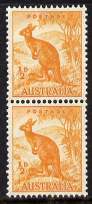 Australia 1948-56 Kangaroo 1/2d coil pair SG 228c