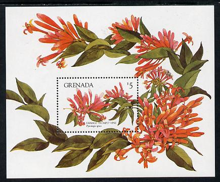 Grenada 1984 Flowers $5 m/sheet unmounted mint SG MS 1333