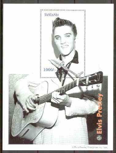 Tanzania 1996 Elvis Presley perf m/sheet unmounted mint (1000s value)