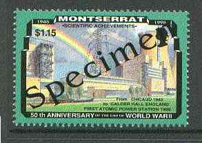 Montserrat 1995 Atomic Power Station $1.15 (from 50th Anniversary of end of World War II set) overprinted SPECIMEN unmounted mint, as SG 970s