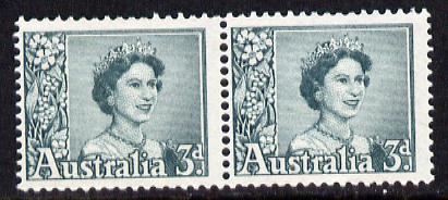 Australia 1959-63 Queen Elizabeth 3d coil pair unmounted mint, SG 311a