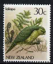New Zealand 1982-89 Kakapo 30c from Native Birds def set unmounted mint, SG 1288*