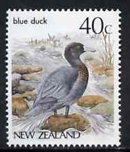 New Zealand 1982-89 Blue Duck 40c from Native Birds def set unmounted mint, SG 1289*