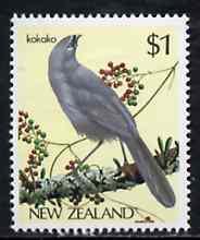 New Zealand 1982-89 Kokako $1 from Native Birds def set unmounted mint, SG 1292*