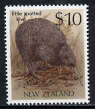 New Zealand 1982-89 Spotted Kiwi $10 from Native Birds def set unmounted mint, SG 1297