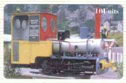 Telephone Card - CTA Railways 10 Units 'phone card #06 showing EOT Narrow Gauge Loco (Collectable Telecards of America)