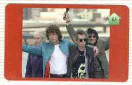 Telephone Card - The Rolling Stones #01 - �5 'phone card (Stones Waving) Limited edition
